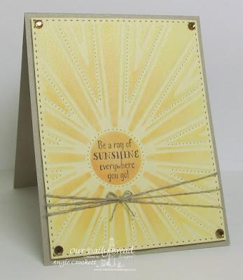 ODBD Hello Sunshine, ODBD Custom Sunburst Background Die, Card Designer Angie Crockett