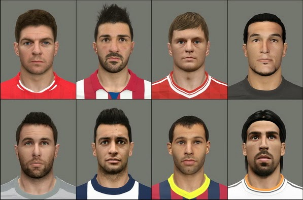 PES 2014 Facepack International vol.6 by tunizizou