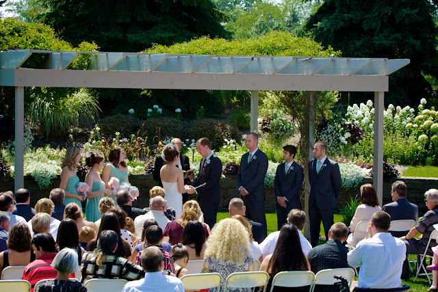 Eagle Eye outdoor garden ceremony, Bath Michigan. Tammy Sue Allen Photography.
