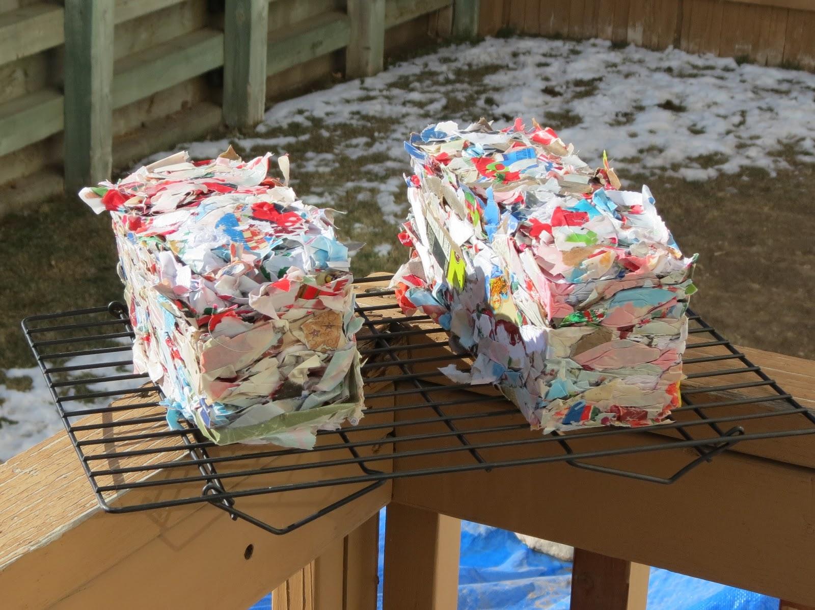 how to make paper fire bricks