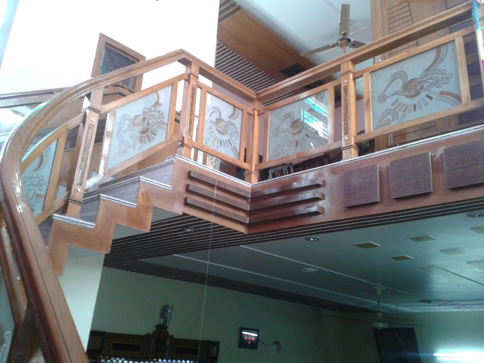 WOODEN STAIR DESIGN MADE BY K K WOOD DESIGNER NAMOL, SANGRUR, PUNJAB,INDIA  ,MO.98557 92367