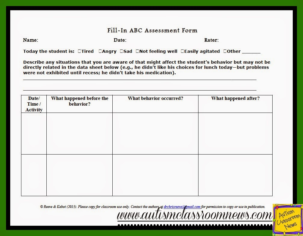 Search results for abc behavior sheet calendar 2015 for Functional assessment observation form template
