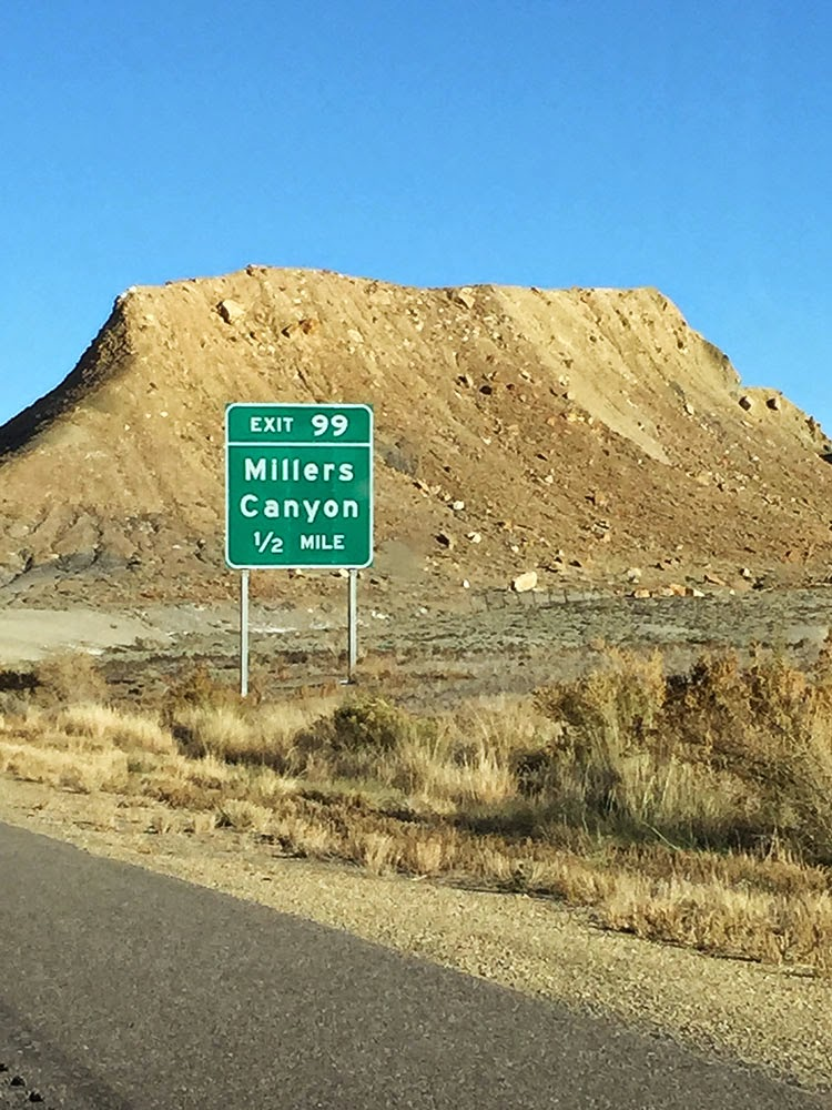Photo of Millers Canyon sign