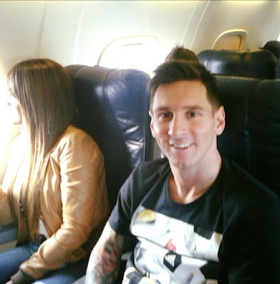 Lionel Messi And Partner Antonella Roccuzzo En Route Zurich For The FIFA Ballon d'Or Gala. Photos