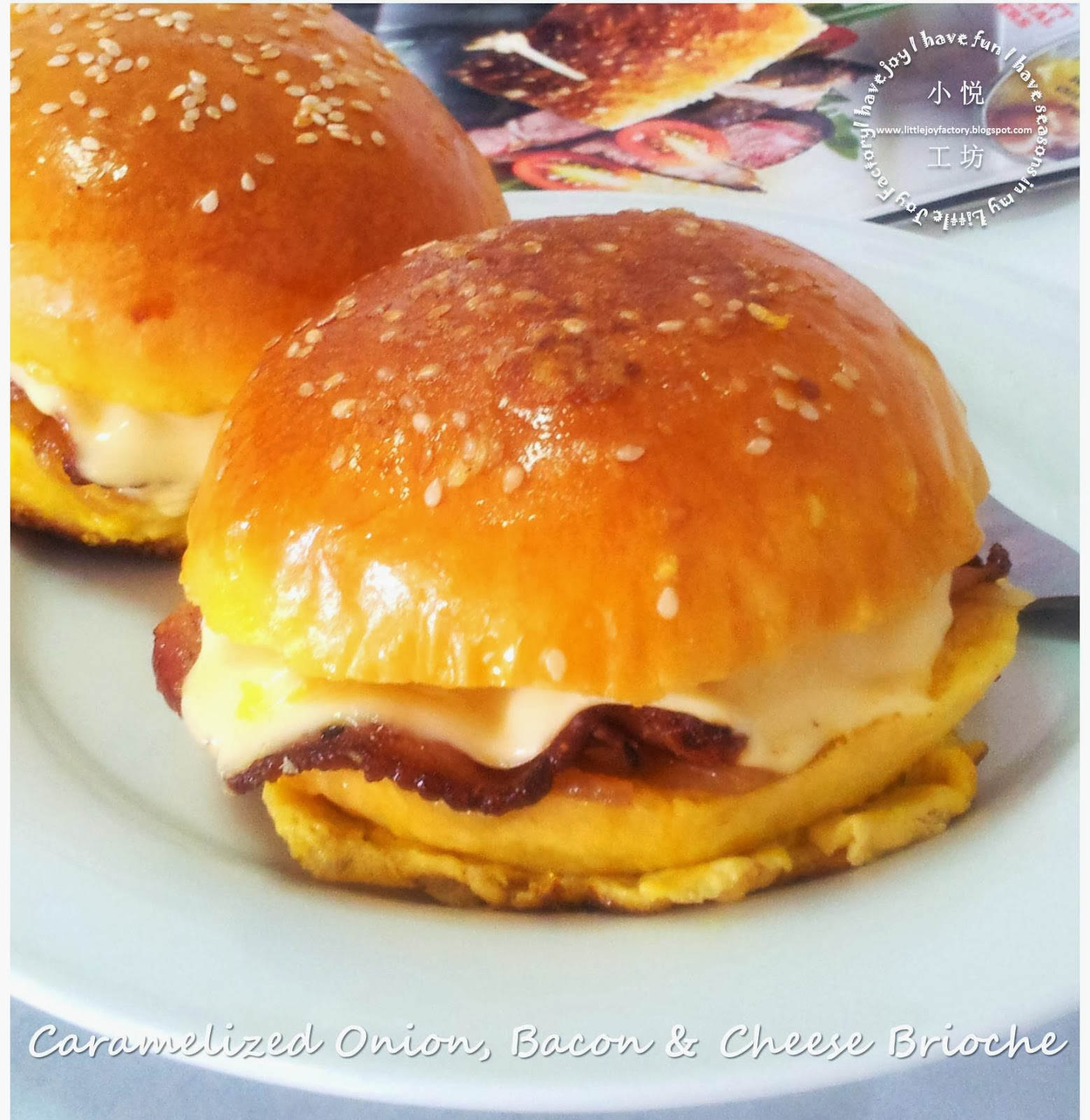Little joy factory caramelized onion bacon and cheese brioche since we always use store bought bread for convenience its time to put in some effort and bake my own soft and rich bread browsed donna hays ccuart Images