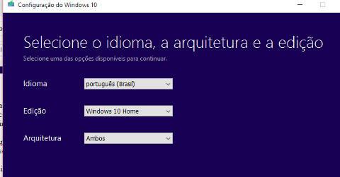 escolher windows 10