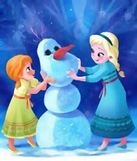Foto Gambar Anna dan Elsa Frozen Kecil