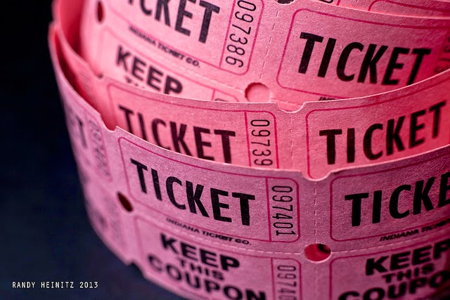 Roll of Pink Raffle Tickets