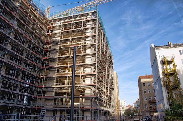 Baustelle PAX IN THE CITY, 67 Eigentumswohnungen, Bernauer Straße 42-44, 13355 Berlin, 31.10.2013