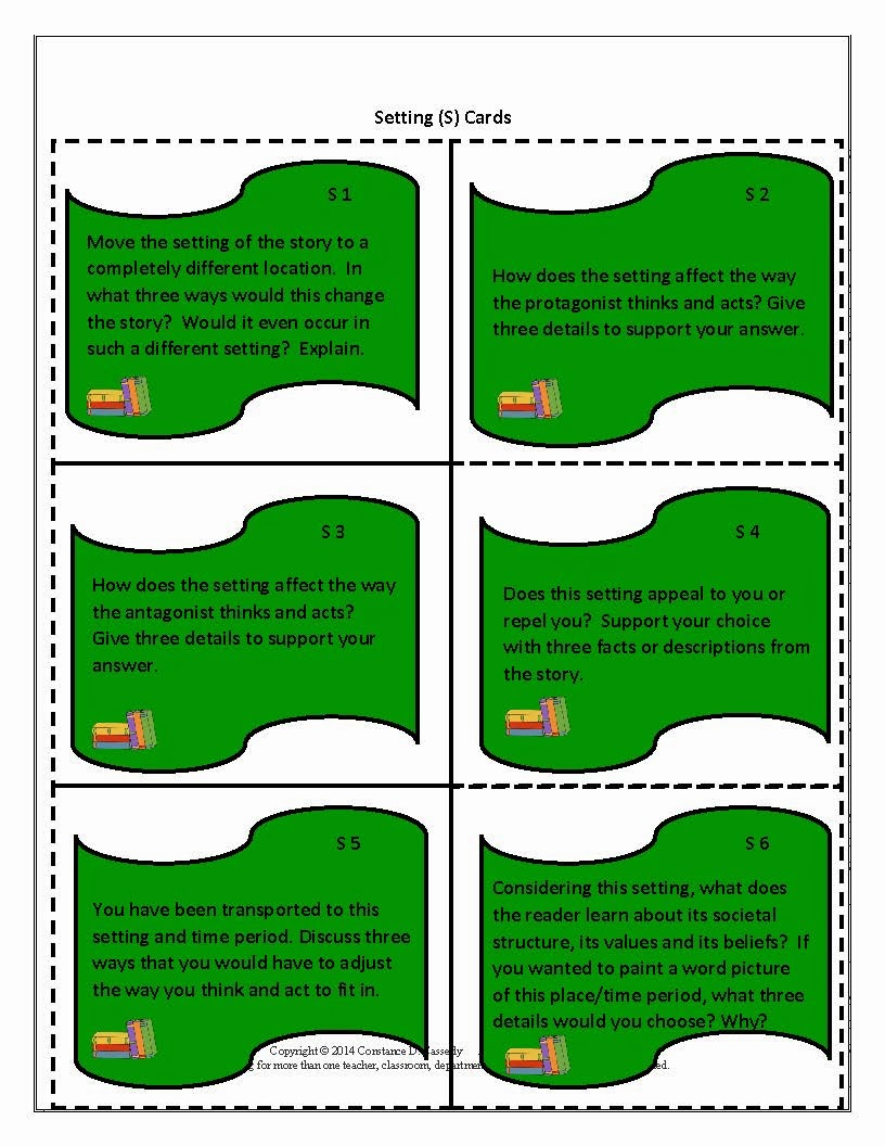 Literature Task Cards-Setting