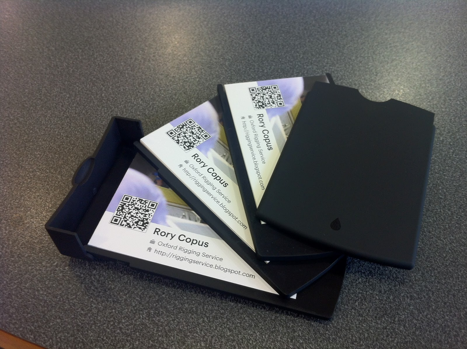 New Business Cards | Oxford Rigging Service