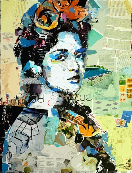The Woman – collage portrait - stock photos picture sites