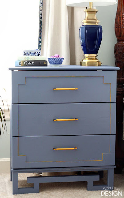 ikea hack greek key dresser