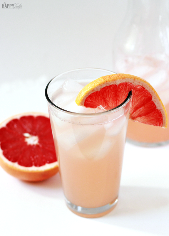 grapefruitade with honey simple syrup │ thehappytulip.com