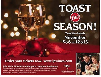 'Toast the Season' with the Wineries of Leelanau Peninsula