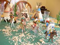 decoracion mesa tematica indios y vaqueros