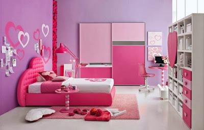 kamar tidur minimalis perempuan