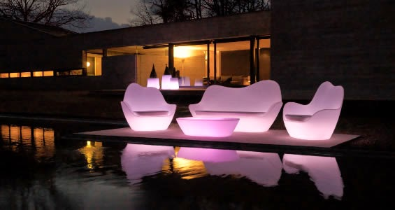 salon de jardin lumineux led
