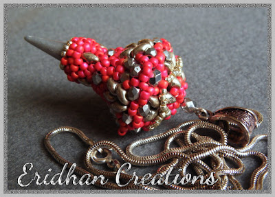 beaded pendant with spike beads