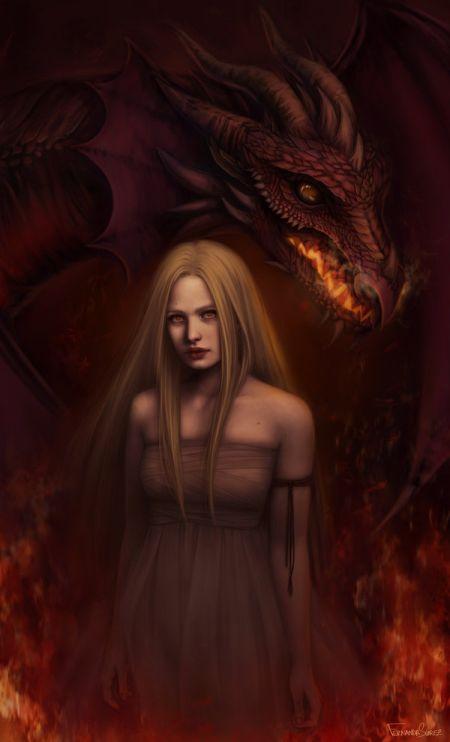 fernanda suarez ilustrações fantasia mulheres Senhora dos dragões
