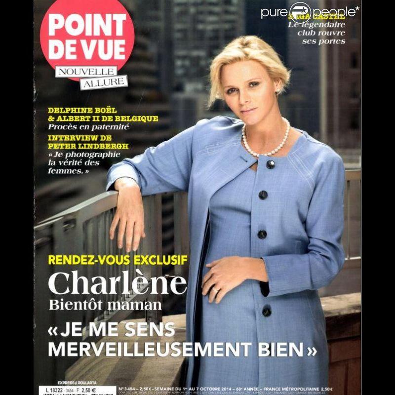 La Princesse Charlène bientôt maman, pose en Une de l'hebdomadaire Point de Vue cette semaine