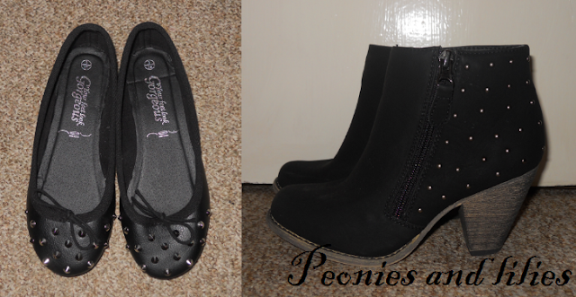 New look, New look studded ballet pumps, New look studded flats, New look boots, New look studded boots, New look studded ankle boots
