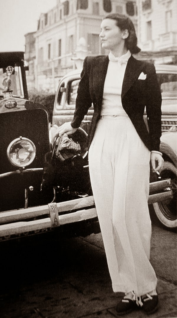 Vintage everyday women in trousers from 1930s 40s