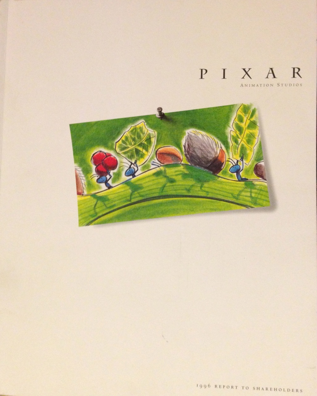 This Day In Pixar: This Day in Pixar History: Pixar 1996 Annual Report