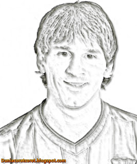 Download Foto Sketsa Lionel Messi