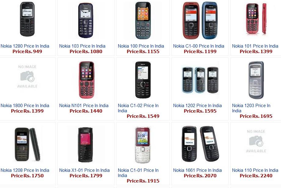 Nokia 1209 Price Nokia 1203  Nokia 1208