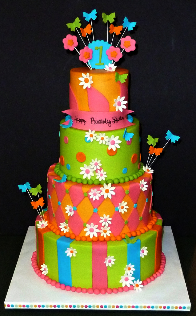 Birthday Cake For A Young Lady Celebrating