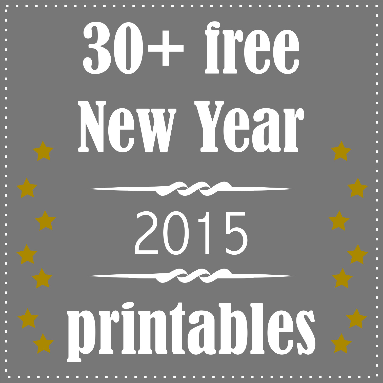 graphic regarding Printable New Year Cards titled 30 + totally free printable Clean Decades Eve decoration and presents