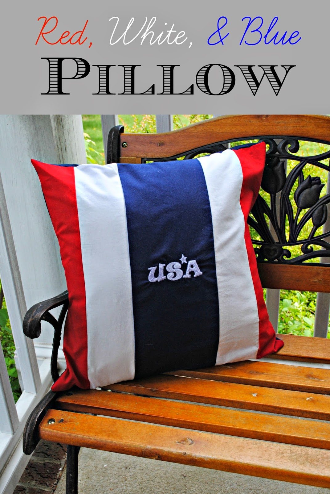 pillow, memorial day, july 4th, flag day, independence day, tutorial