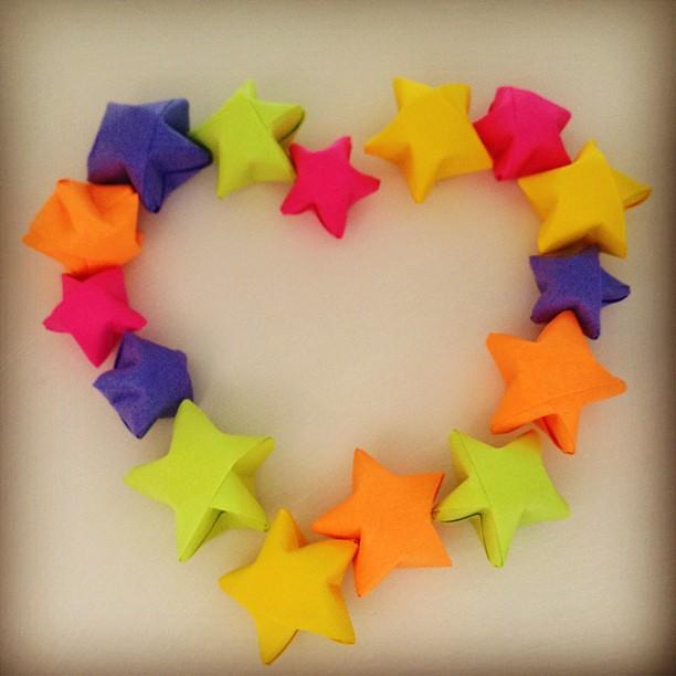 origami paper strips stars lovelyelement