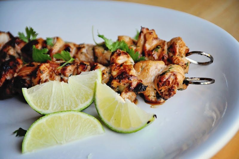 Barefoot and Baking: Honey-Lime Chicken Skewers