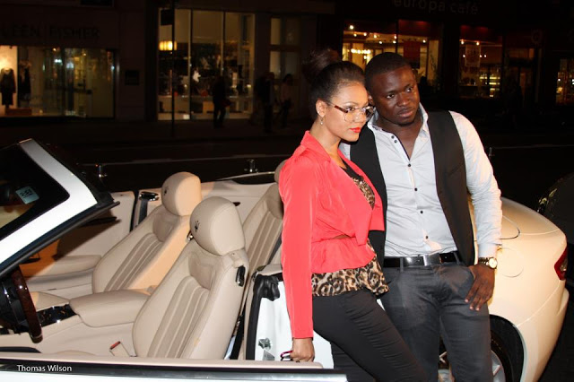 Nadia Buari and B. Clay