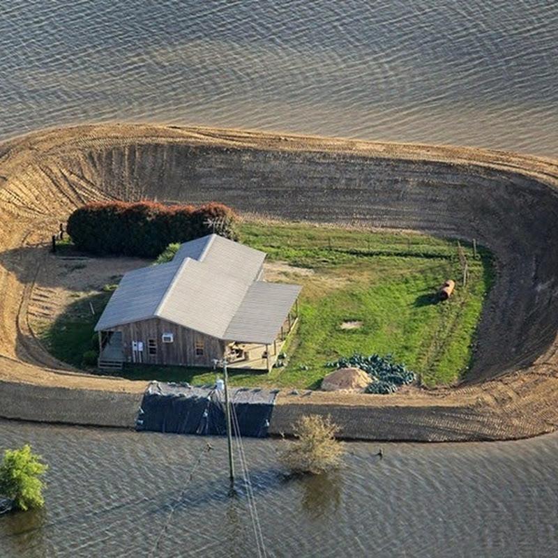 Casas isla frente a inundaciones