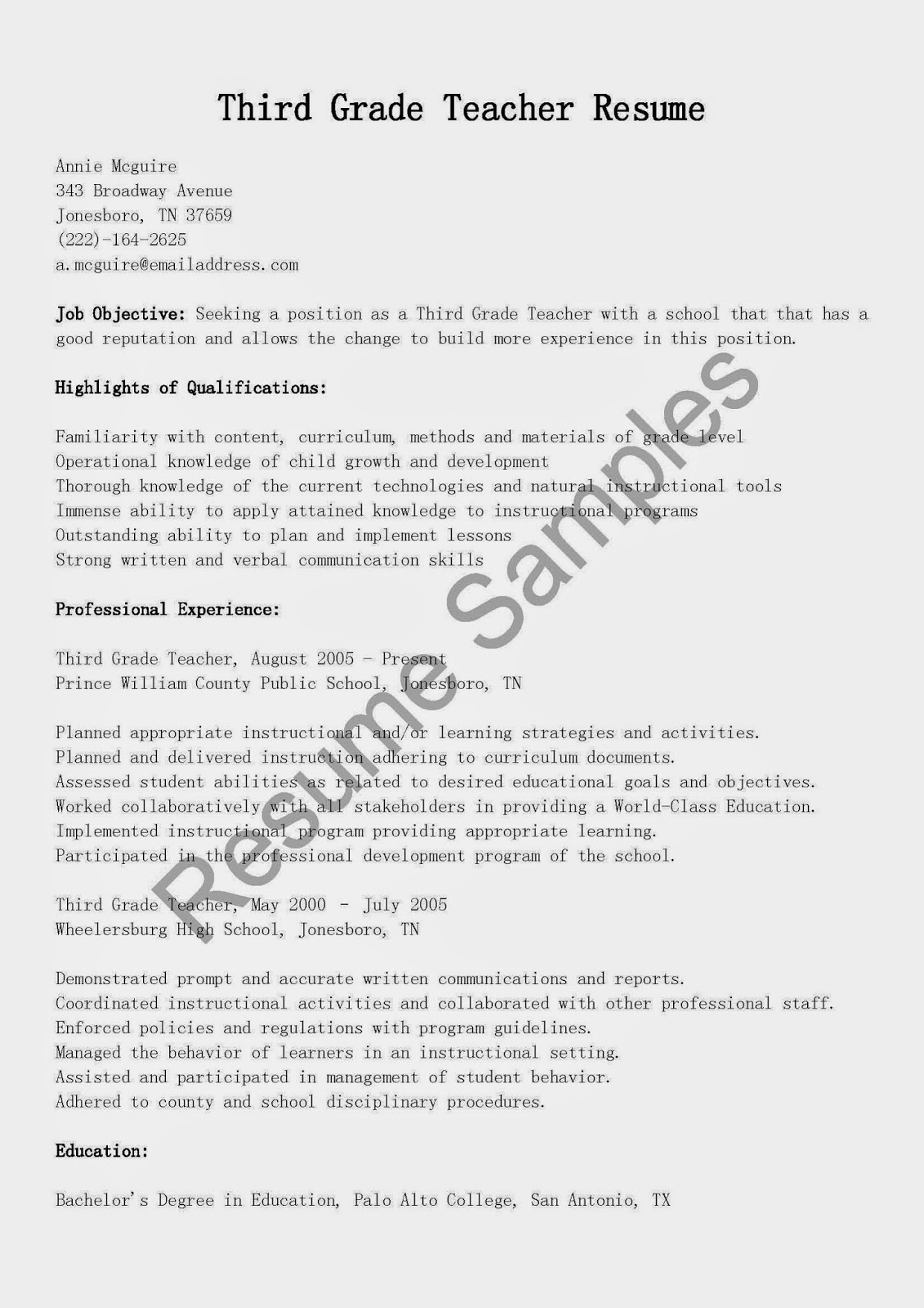 Art Teacher Resume Example Template Sample Teaching Design Job INPIEQ  Instructor Resume  Art Teacher Resume Examples