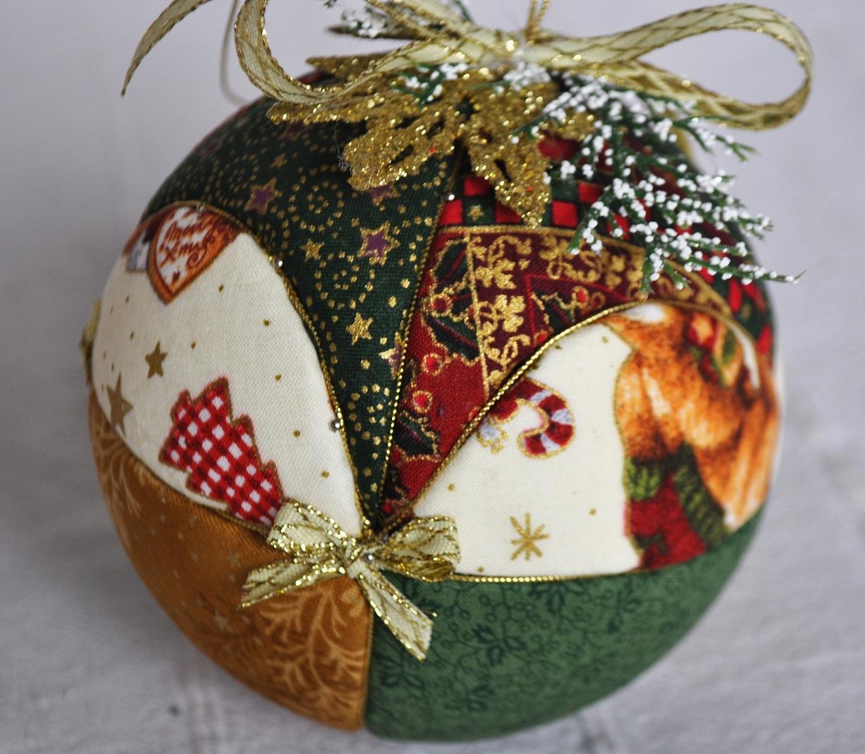 El caj n del scrap bolas de navidad de patchwork sin aguja - Bolas de navidad ...