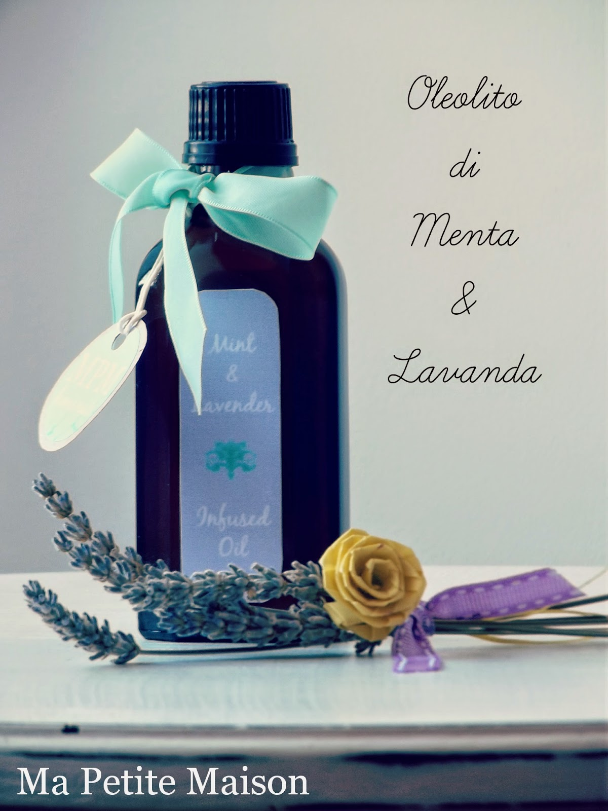Mint and lavender infused oil