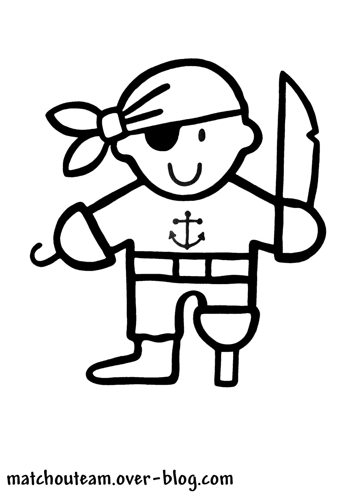 coloriage d'un petit pirate