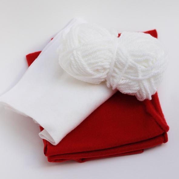 De Tijera Rapida: Como hacer un gorro de Papa Noel para bebé