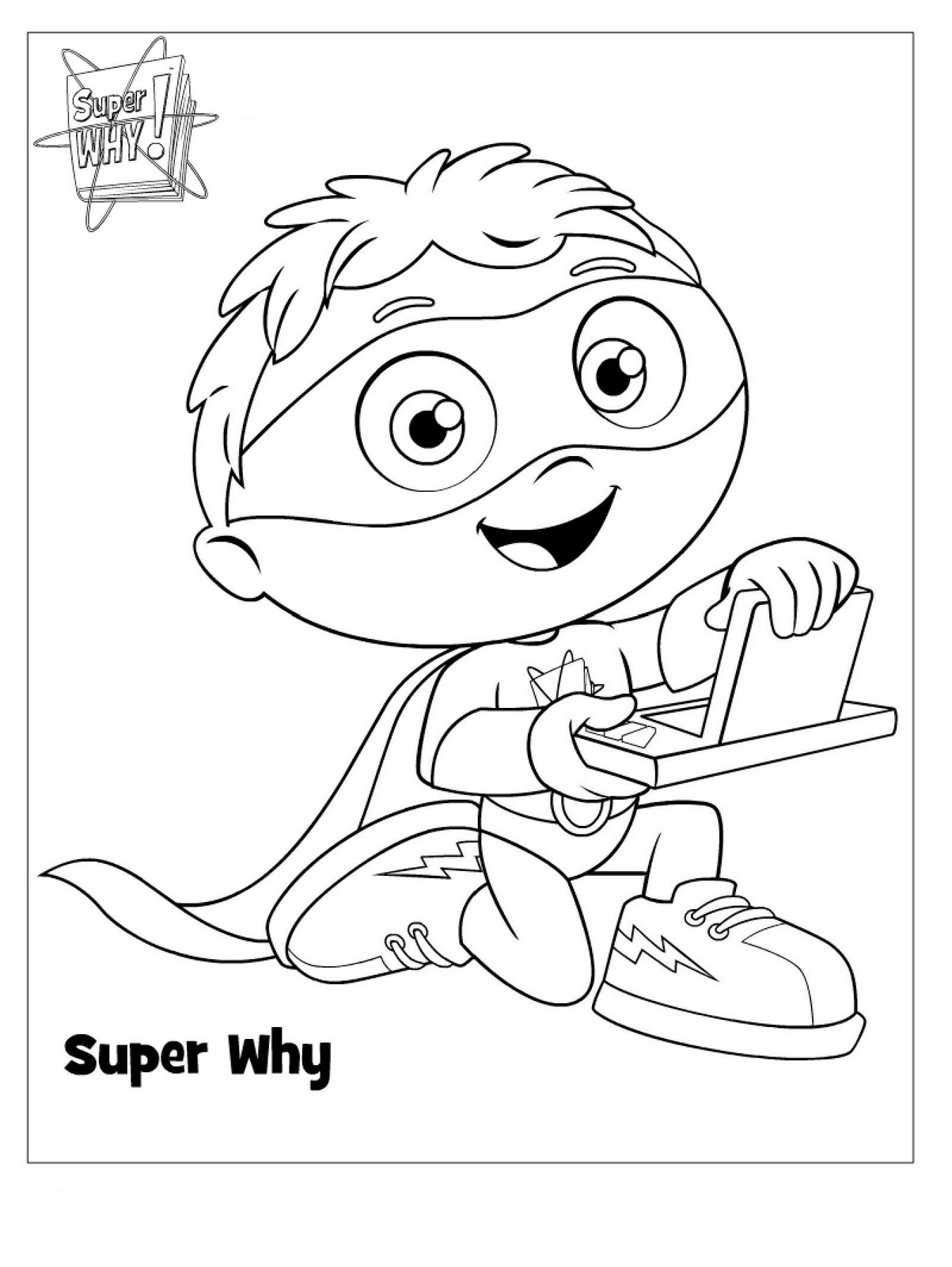 super why christmas coloring pages - photo#1