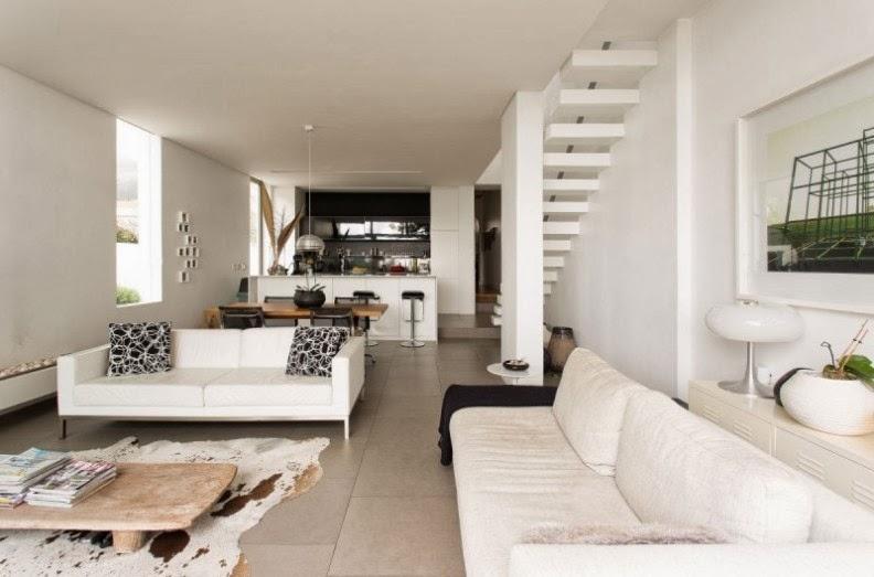 Una casa de dise o de concepto abierto open concept for Casas largas y estrechas