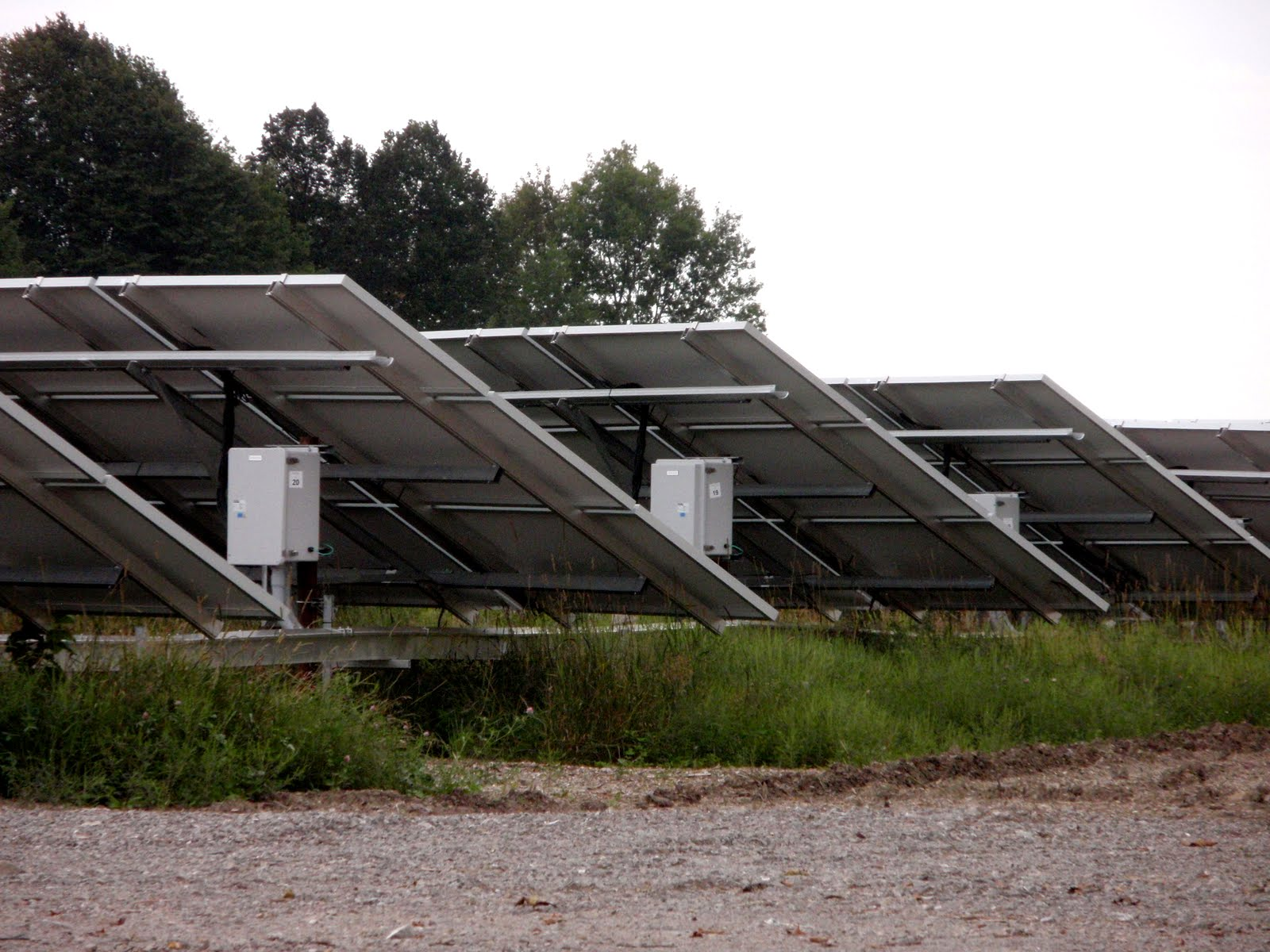 Ontario Government has very good incentives for solar power. You see lots of solar panels all over.