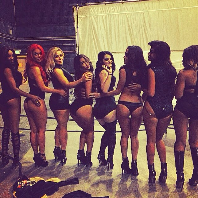 Paige, Rosa, Eva, Nikki and Other Divas Show Off Their Asses.
