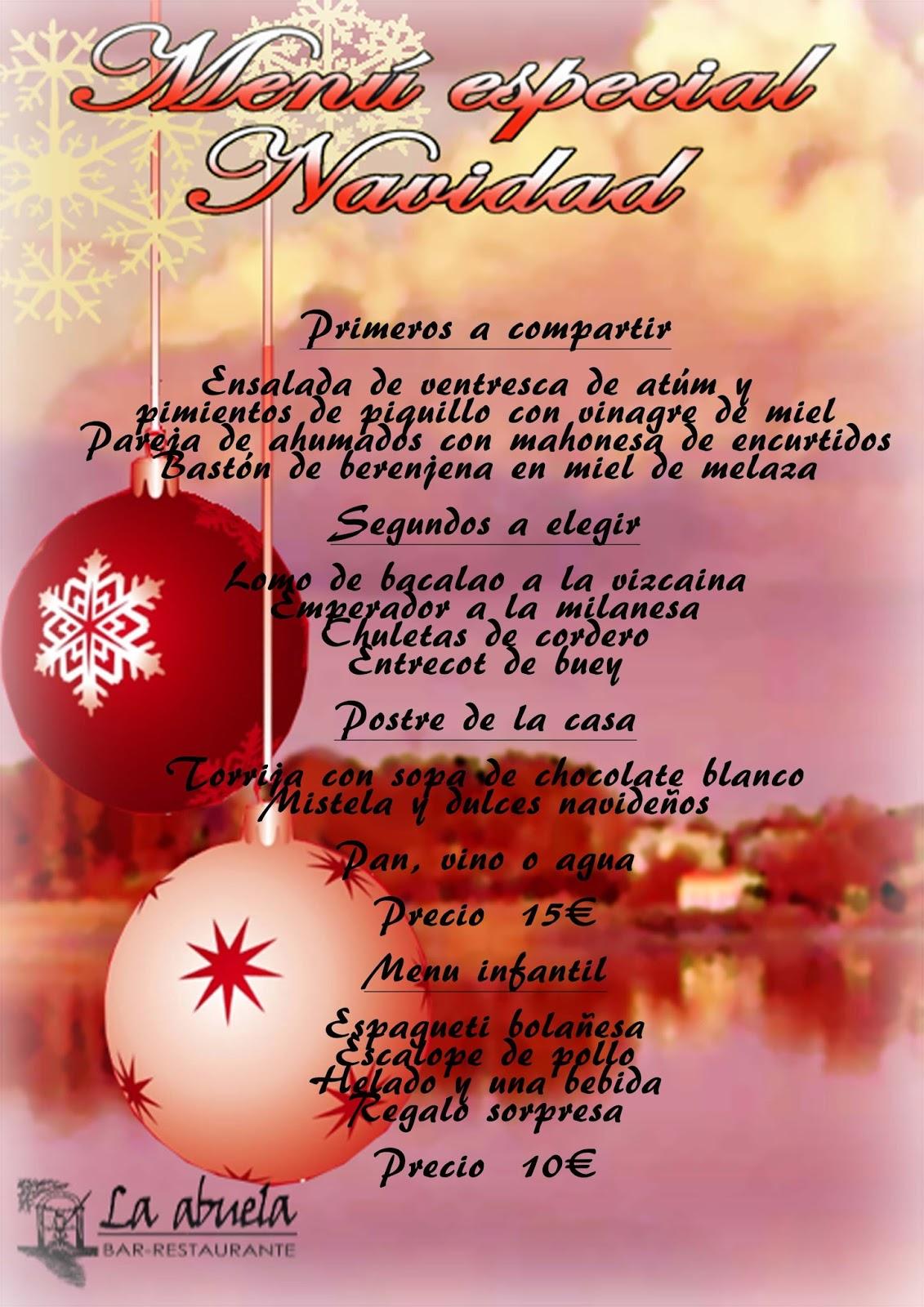 restaurante La Abuela: MENU NAVIDAD