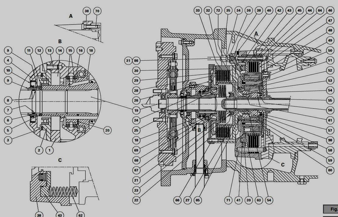 parts of a hydraulic gear pump diagram