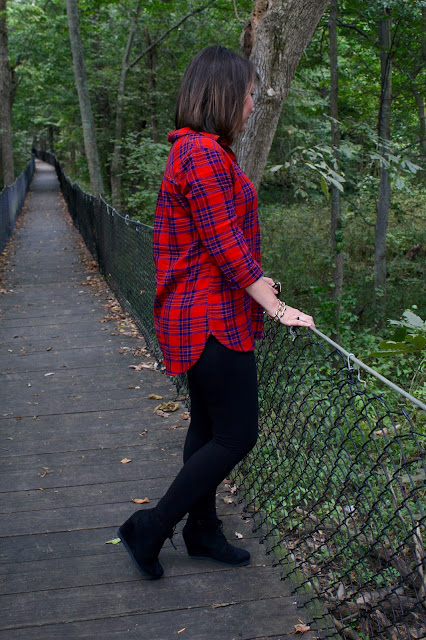 Target Plaid Tunic Leggings Booties The Peacock Roost