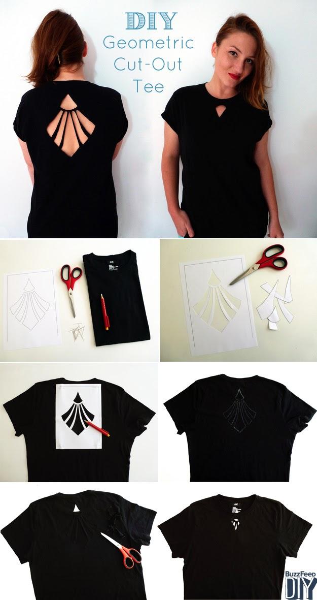 DIY: ¡Renueva tus blusas! Corte Geométrico